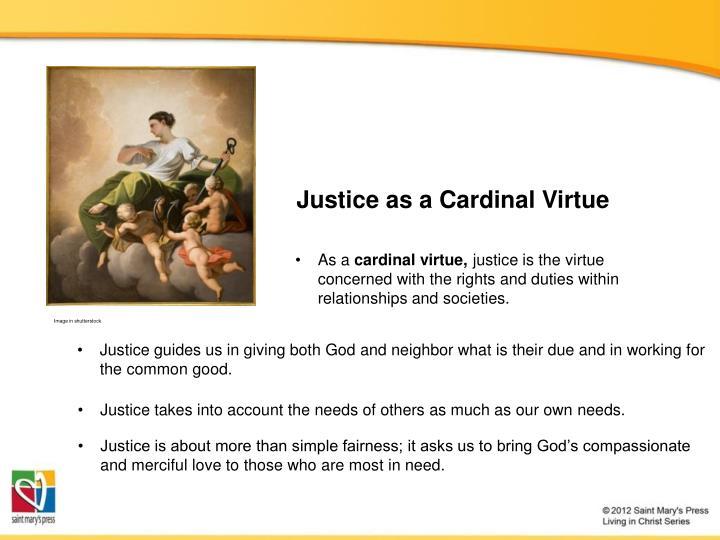 Justice as a Cardinal Virtue