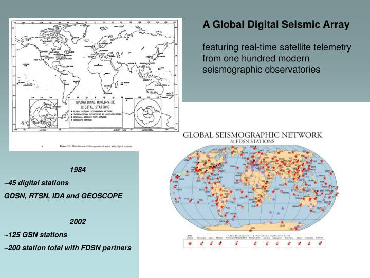 A Global Digital Seismic Array