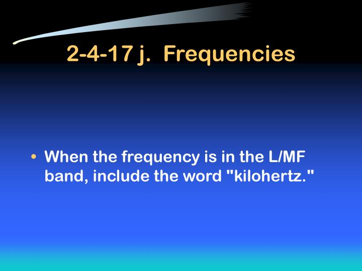 2-4-17 j.  Frequencies