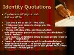 identity quotations