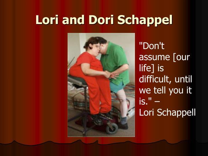 Lori and Dori Schappel
