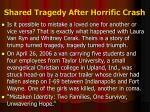 shared tragedy after horrific crash