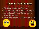 theme self identity
