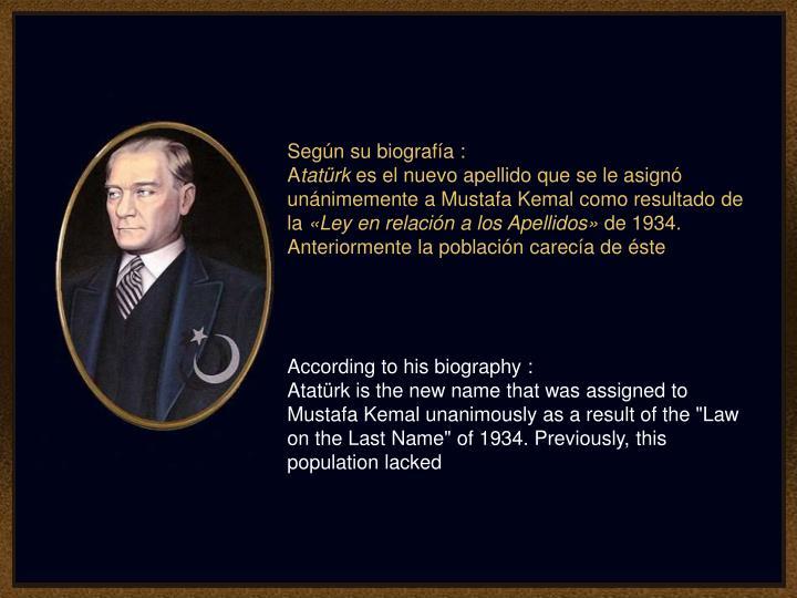 Según su biografía :