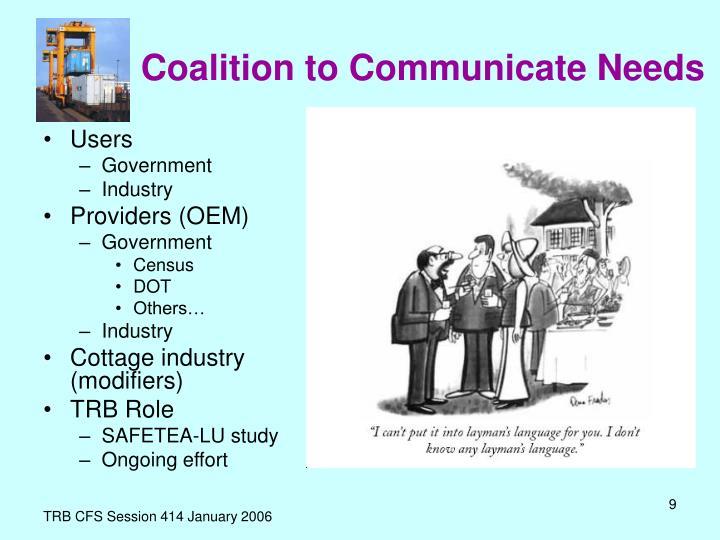 Coalition to Communicate Needs