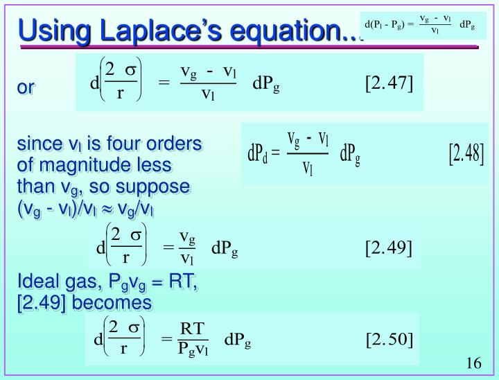 Using Laplace's equation...