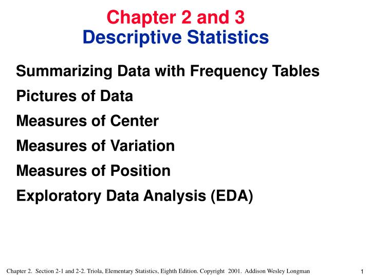 Summarizing Data with Frequency Tables