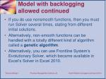 model with backlogging allowed continued1