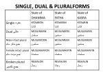single dual pluralforms