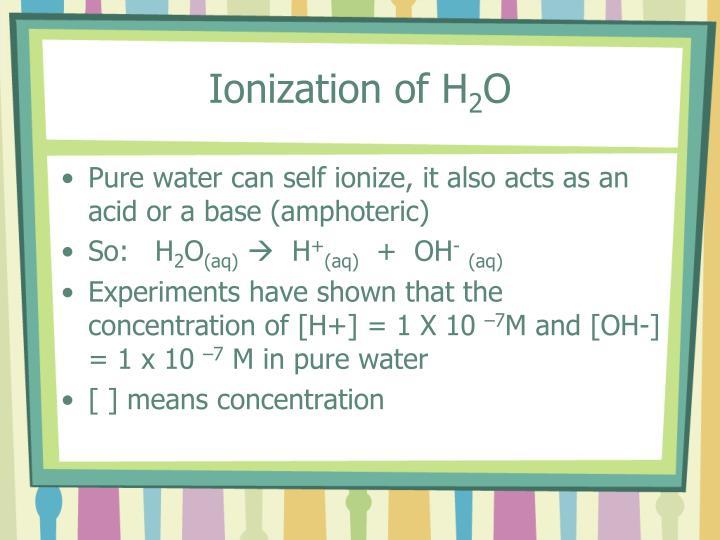 Ionization of H