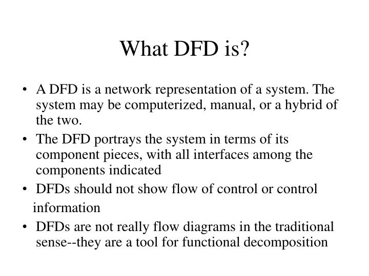 What dfd is