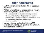 arff equipment