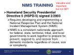 nims training