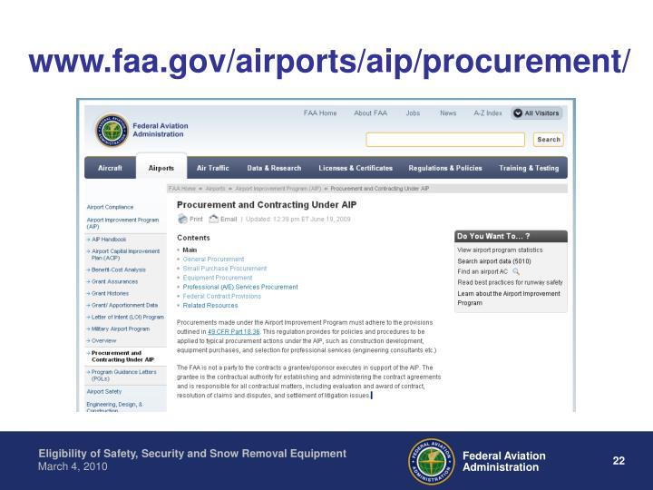 www.faa.gov/airports/aip/procurement/