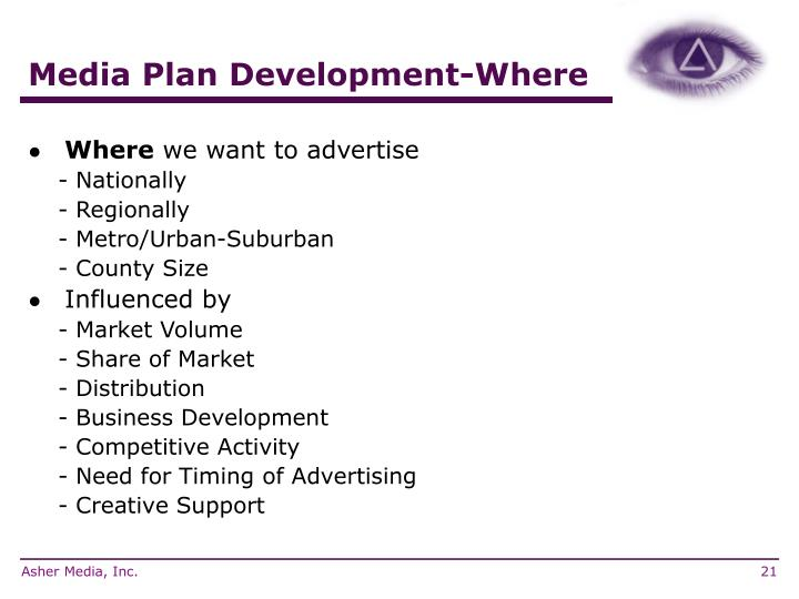 Media Plan Development-Where