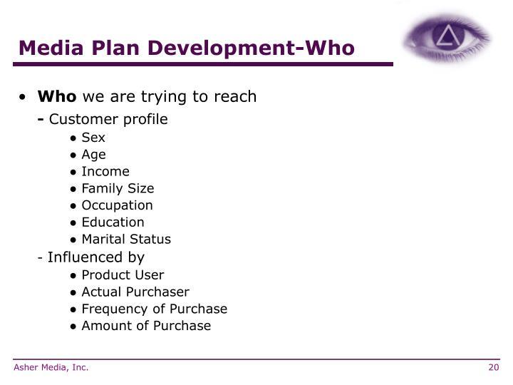 Media Plan Development-Who
