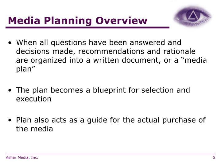 Media Planning Overview