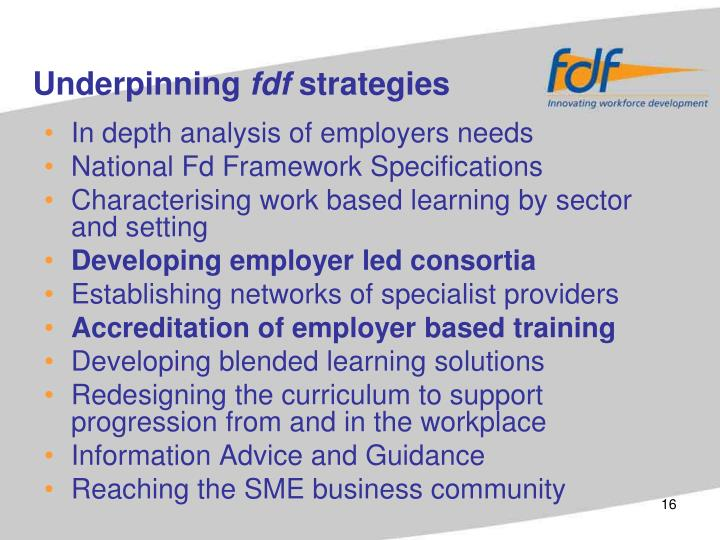 In depth analysis of employers needs