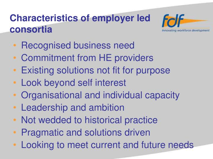 Recognised business need