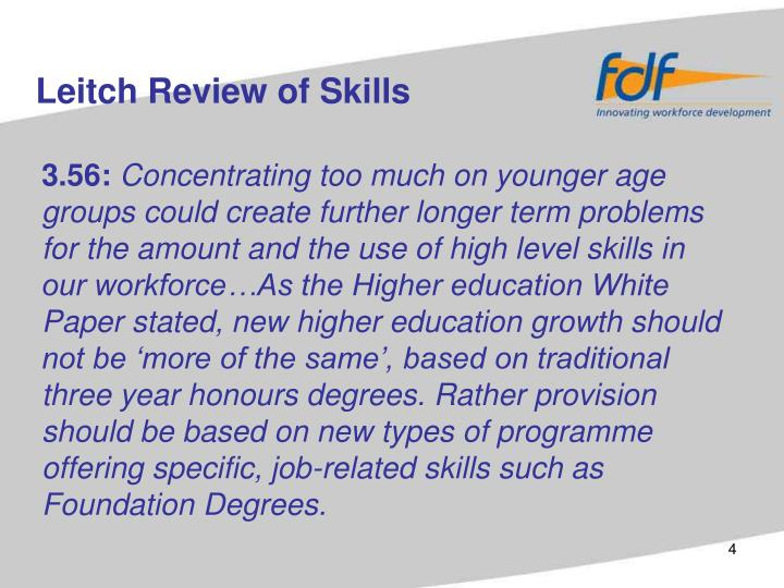 Leitch Review of Skills