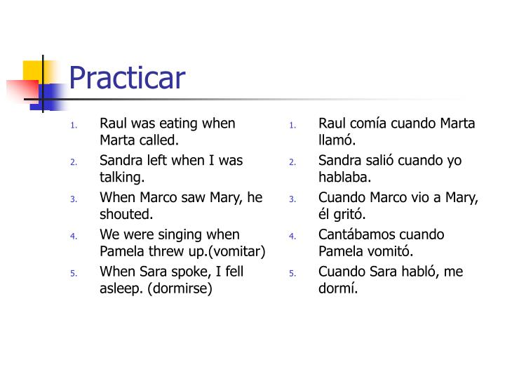 Raul was eating when Marta called.