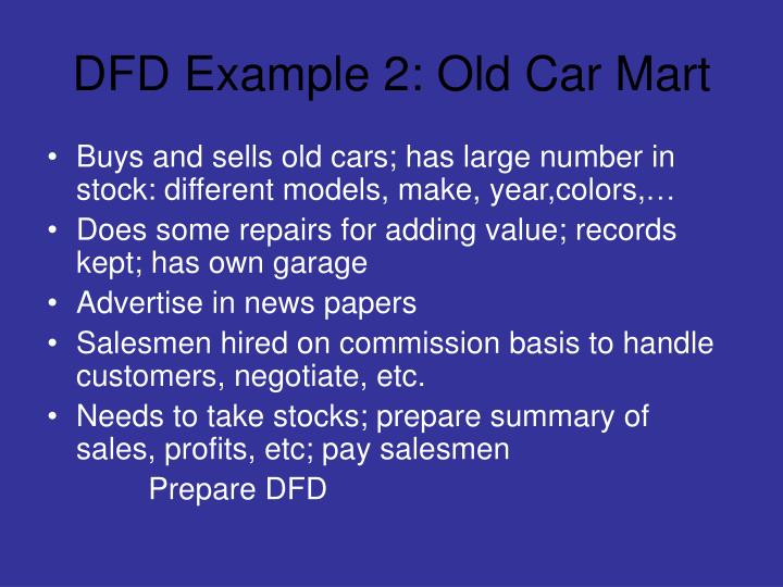 DFD Example 2: Old Car Mart