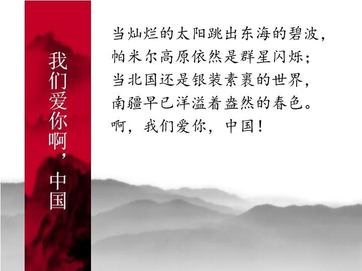 我们爱你啊,中国