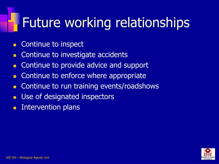 Future working relationships