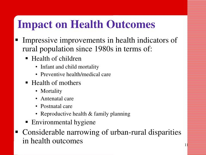 Impact on Health Outcomes