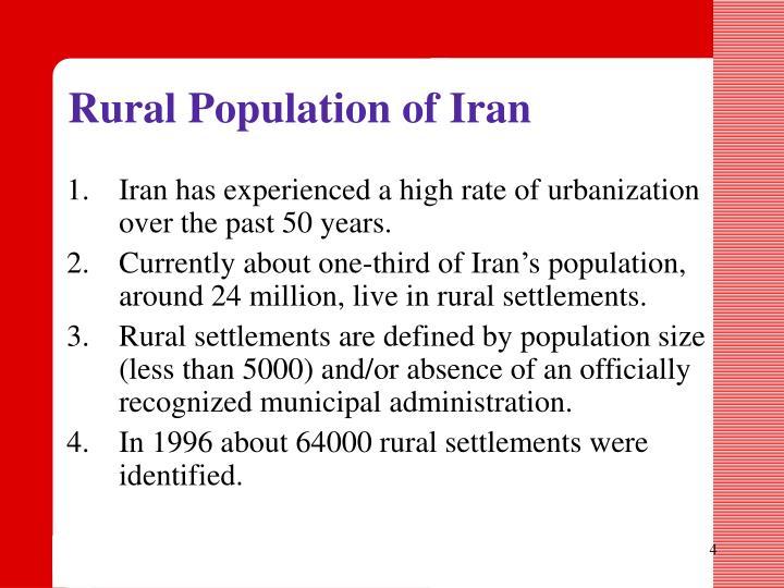 Rural Population of Iran