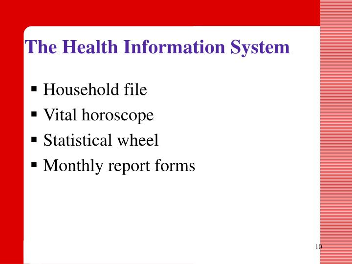 The Health Information System