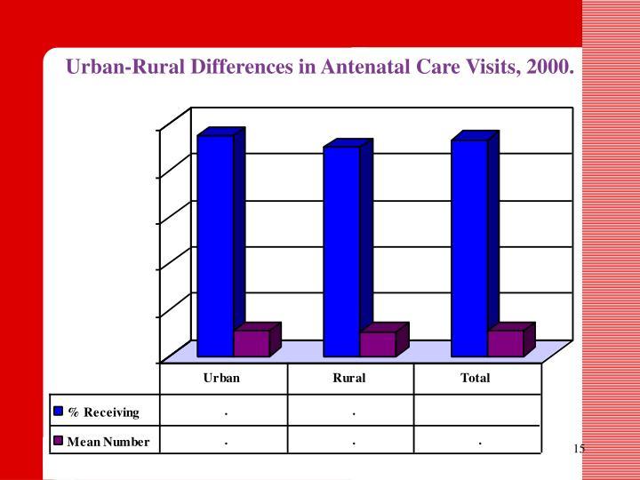 Urban-Rural Differences in Antenatal Care Visits, 2000.