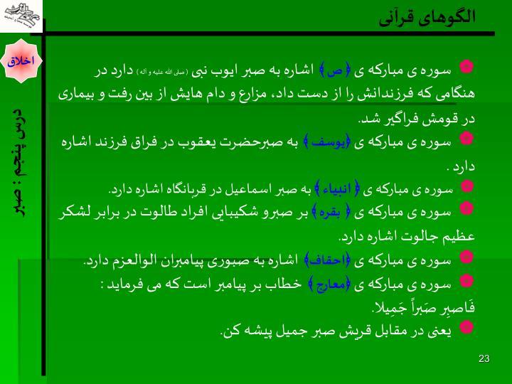 الگوهای قرآنی