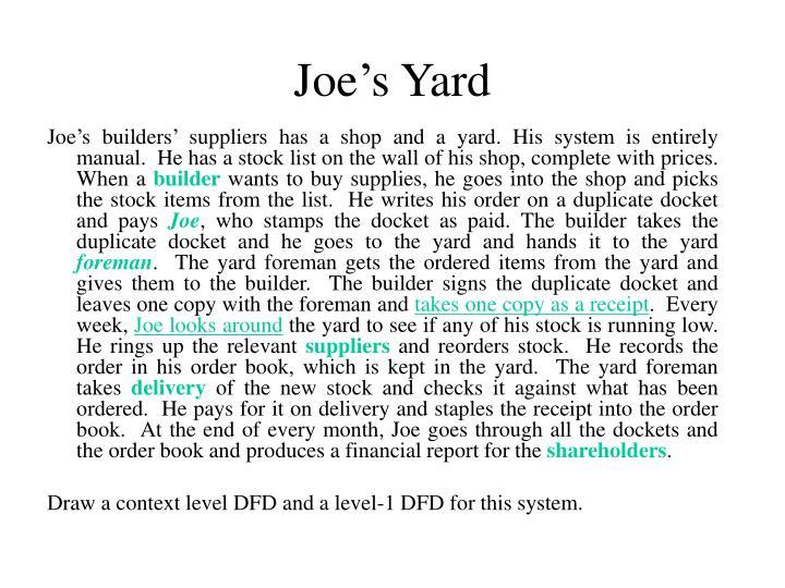 Joe's Yard