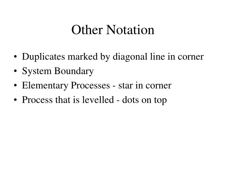 Other Notation