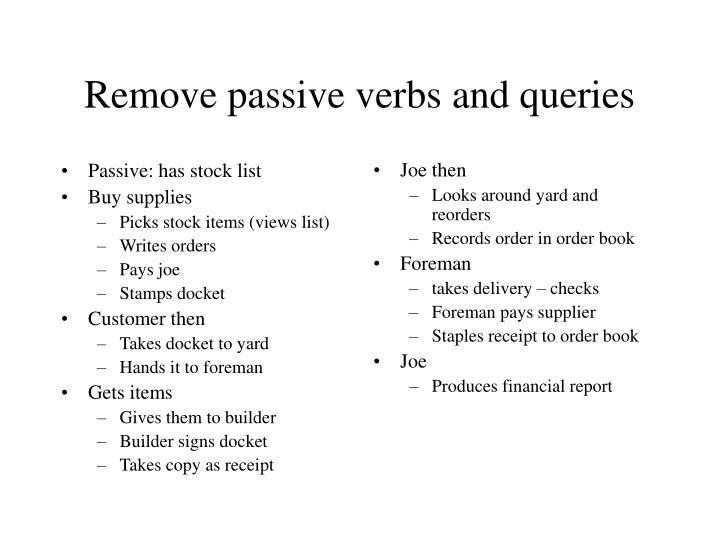 Passive: has stock list