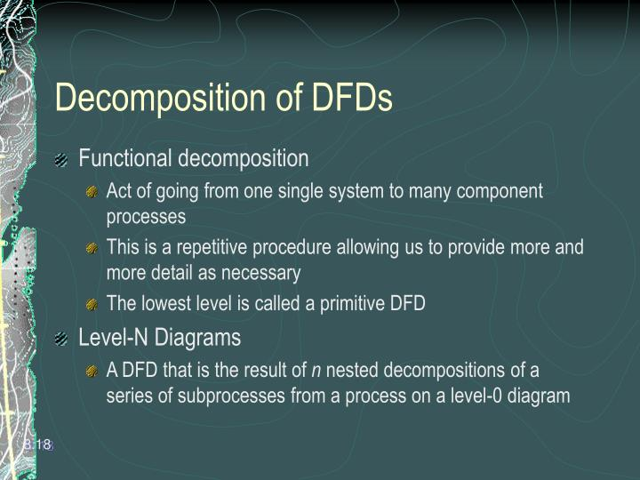 Decomposition of DFDs