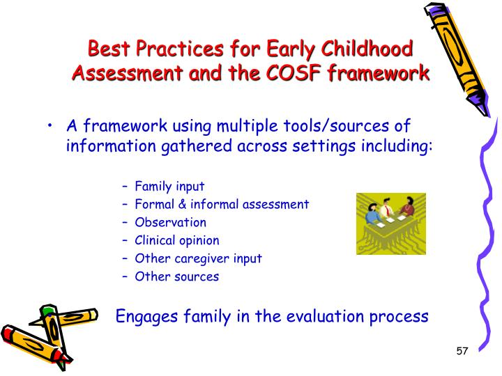 Best Practices for Early Childhood Assessment and the COSF framework