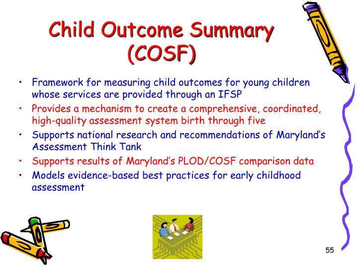 Child Outcome Summary (COSF)