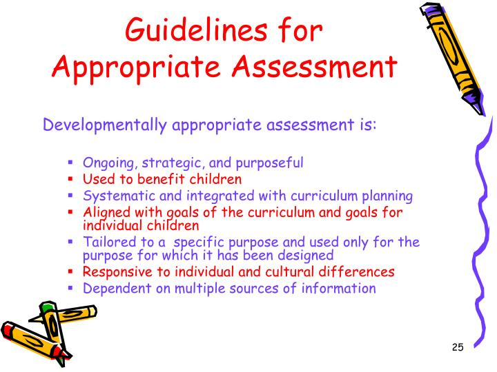 Guidelines for Appropriate Assessment