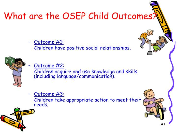 What are the OSEP Child Outcomes?