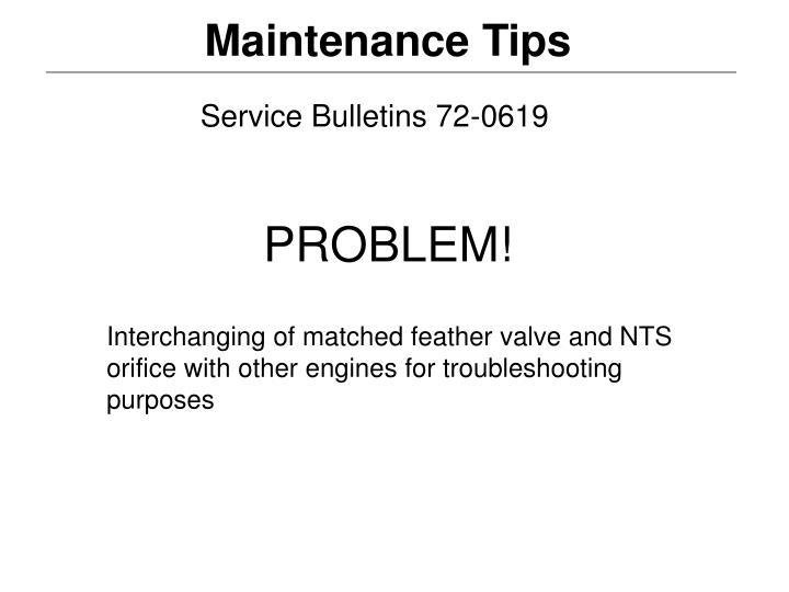 Service Bulletins 72-0619
