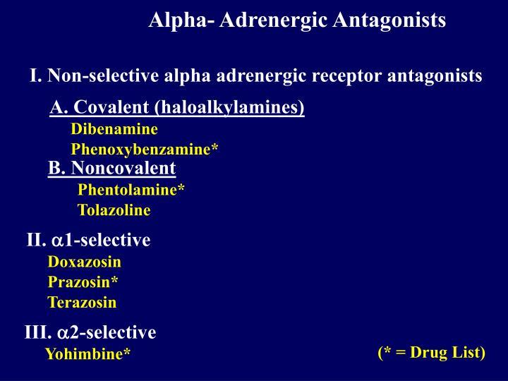 Alpha- Adrenergic Antagonists