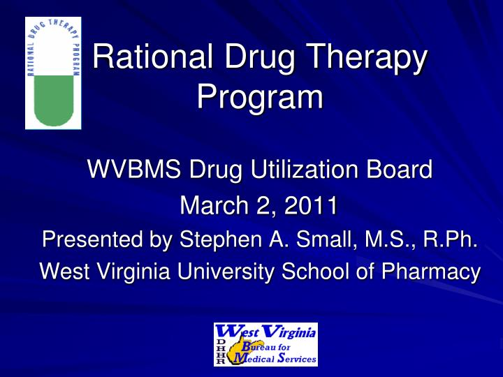 Rational drug therapy program