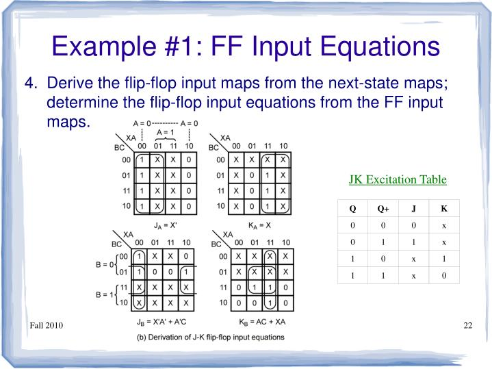 Example #1: FF Input Equations