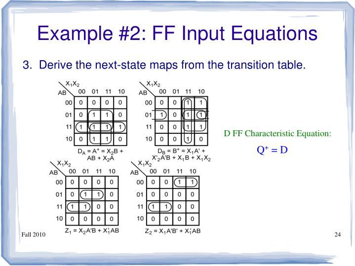 Example #2: FF Input Equations