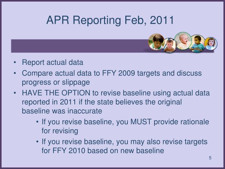 APR Reporting Feb, 2011