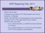 apr reporting feb 2011