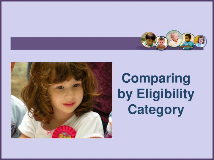 Comparing by Eligibility Category