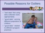 possible reasons for outliers